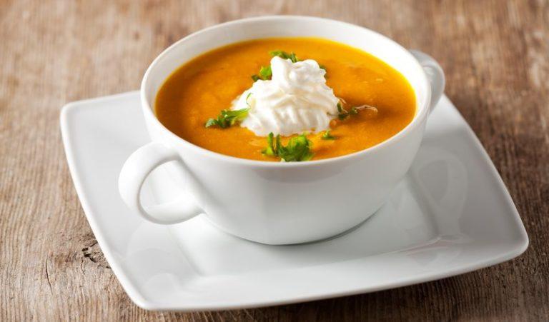 10615758 - pumpkin soup in a bowl